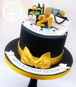 Shopping 21st Birthday Cake