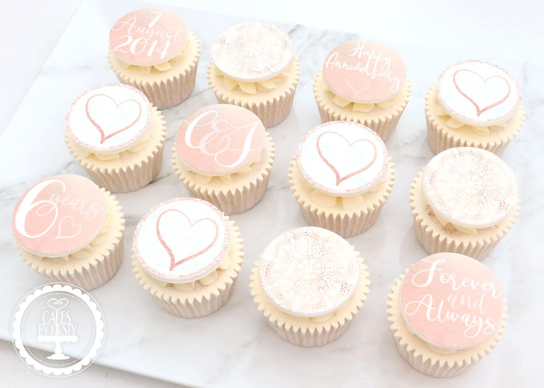 20200806 - Rose Gold Anniversary Cupcake