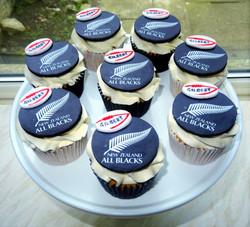 All Blacks Cupcakes
