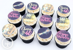 20201221 - Champagne and Shoes Cupcakes