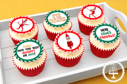 20201224 - Elf on the Shelf Cupcakes