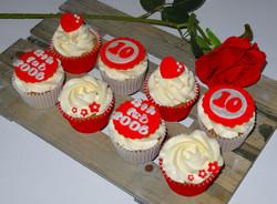 10th Anniversary Cupcakes