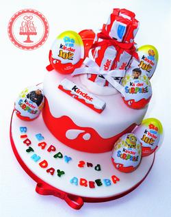 Kinder Egg Surprise Cake