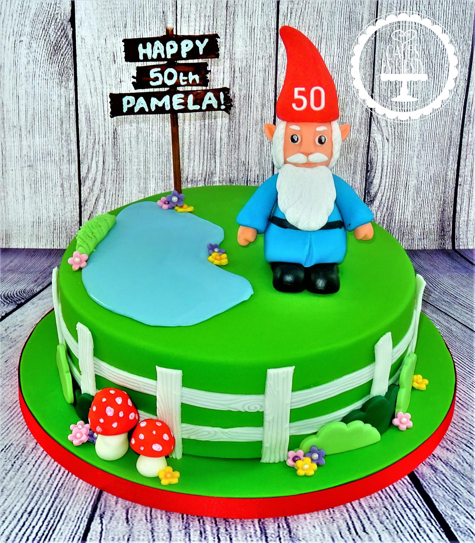 Gnome Garden Cake