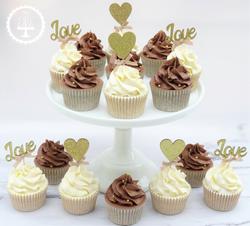 Love & Heart Wedding Cupcakes