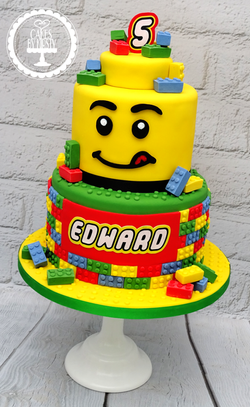 Lego 5th Birthday Cake