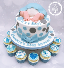 It's a Boy Baby Shower Cake & Cupcakes