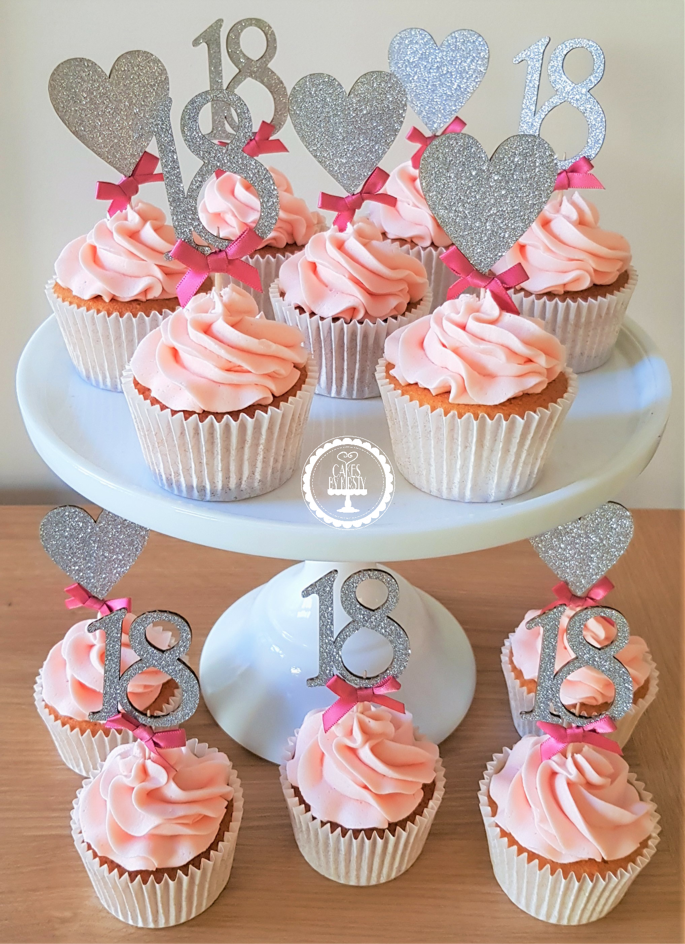 18th Sparkle Cupcakes
