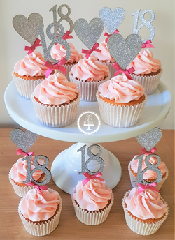 18th Sparkle Cupcakes