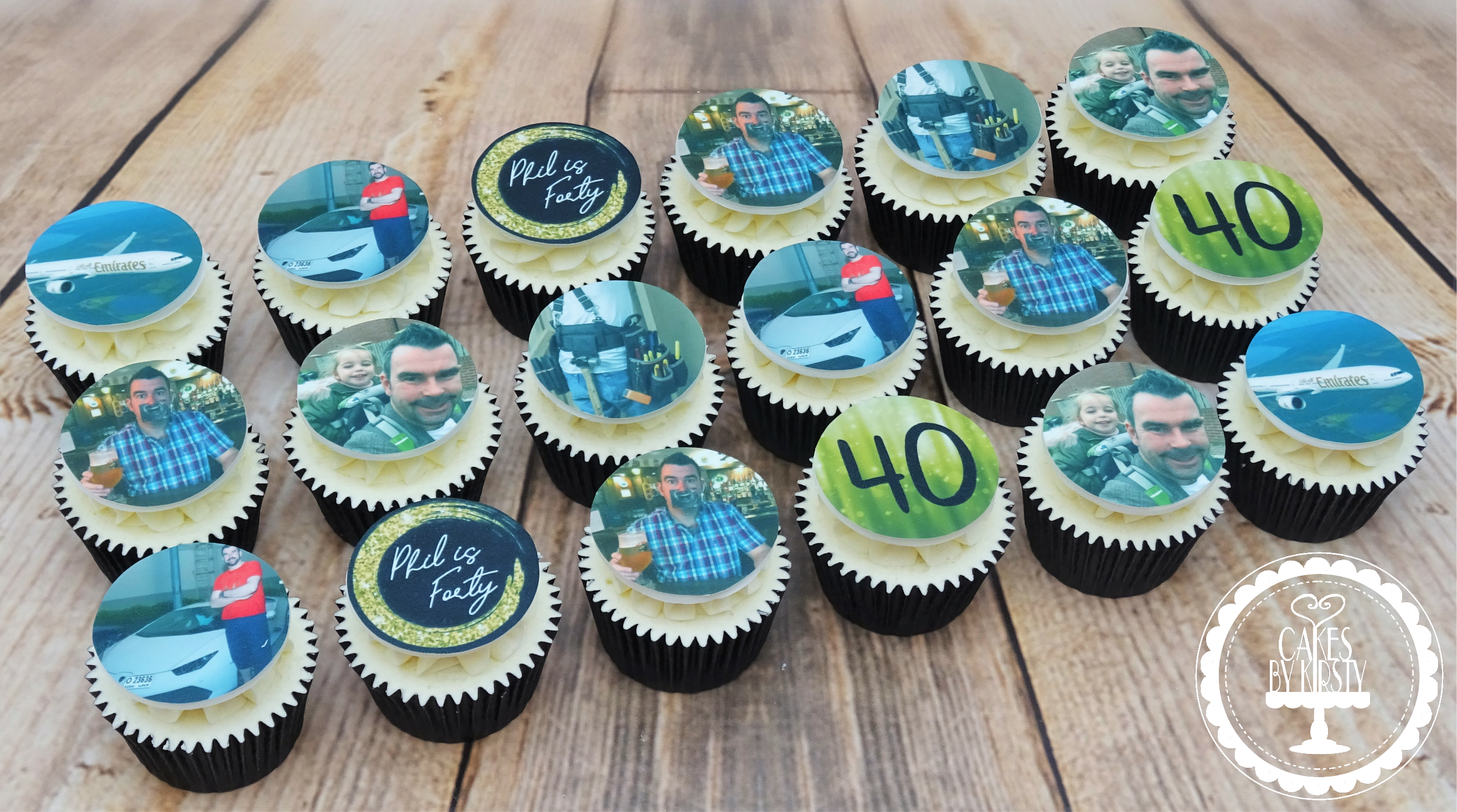 40th Birthday Cupcakes