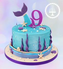 20190905 - Mermaid 9th Birthday Cake