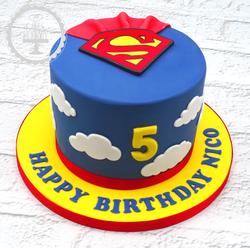 Superman 5th Birthday Cake