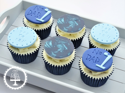 Fathers Day Cupcakes - Baby Scan