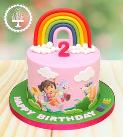 20191221 - Dora the Explorer Cake