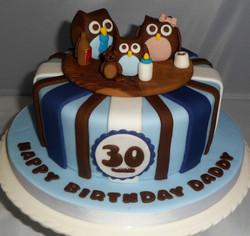 30th Owl Cake