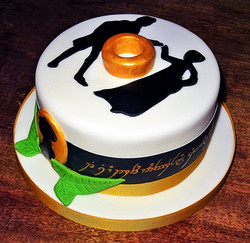 Jane Austin & Lord of the Rings Cake