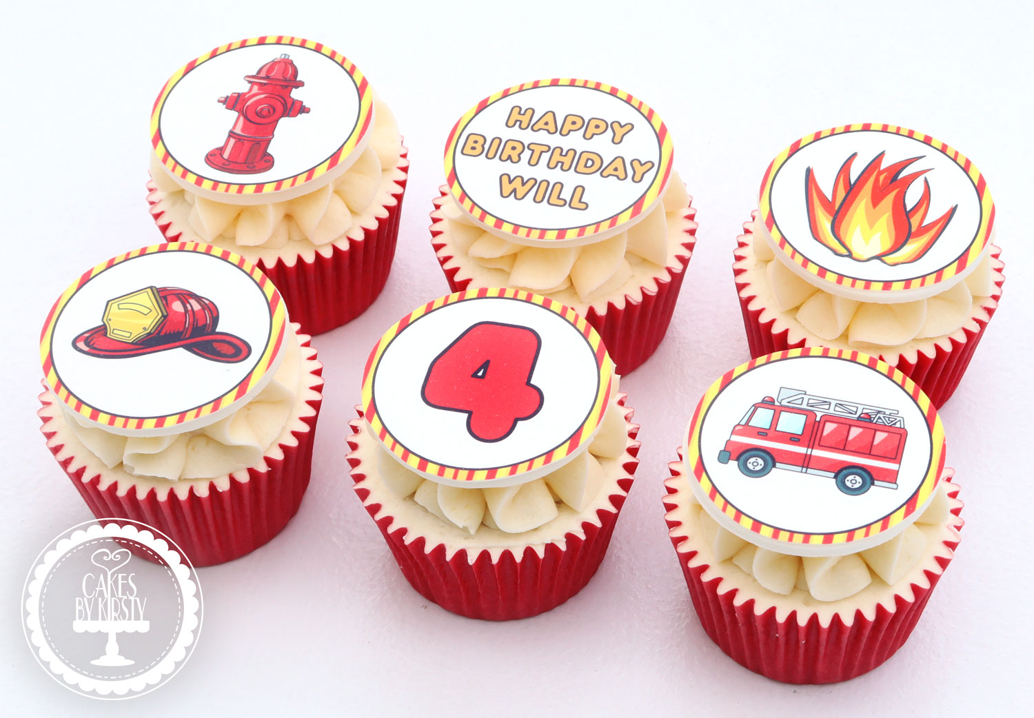 20210121 - Firefighter Cupcakes