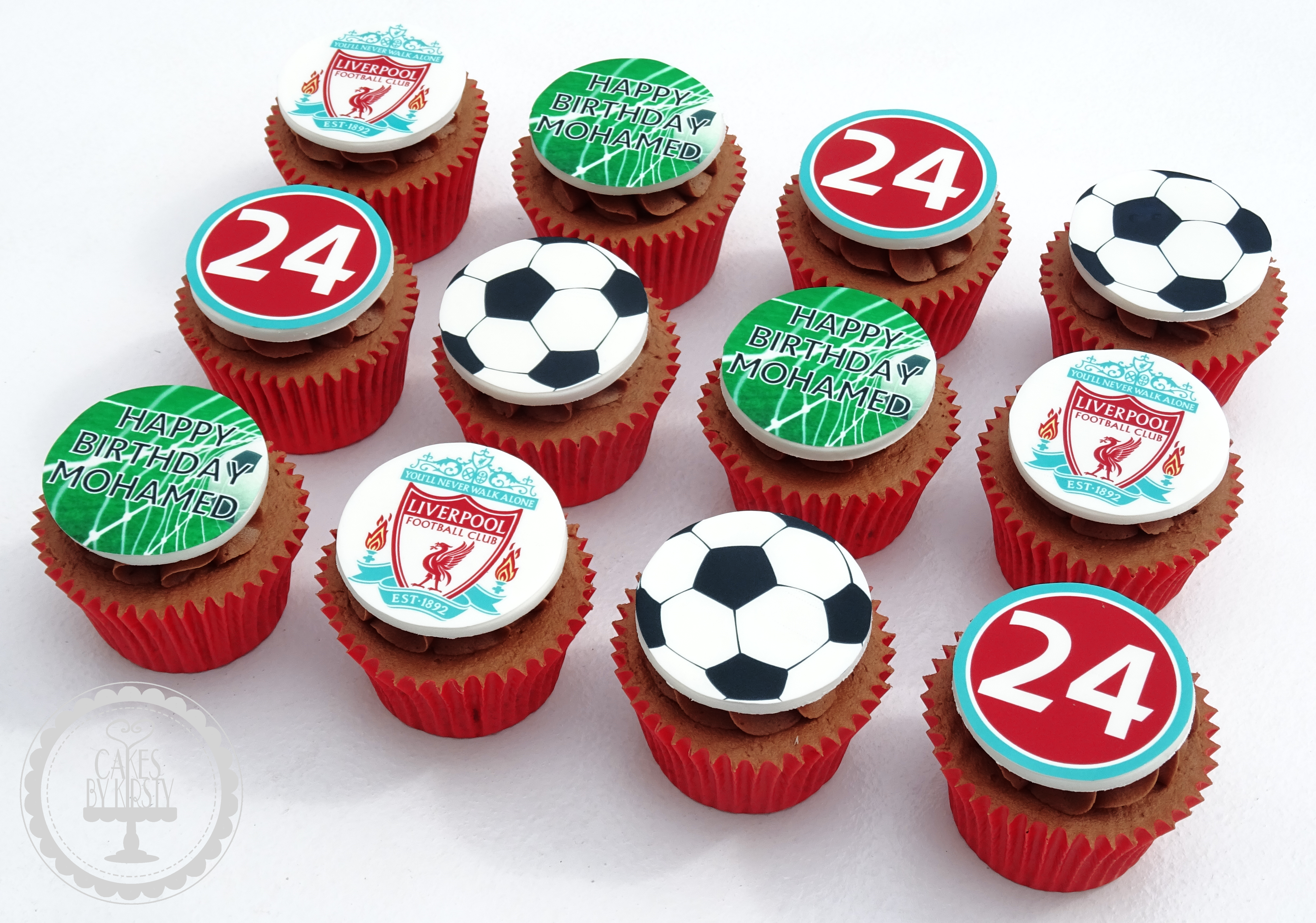 Liverpool FC Edible Image Cupcakes