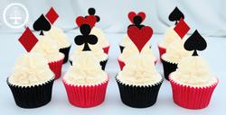 20190825 - Playing Card Magician Cupcake