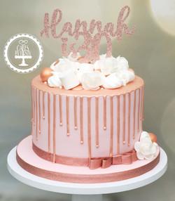 20191116 - Rose Gold 30th Drip Cake