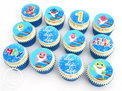 Baby Shark Edible Image Cupcakes