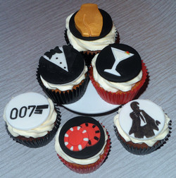 James Bond Cupcakes