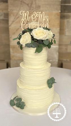 20191228 - Rustic Wedding Cake
