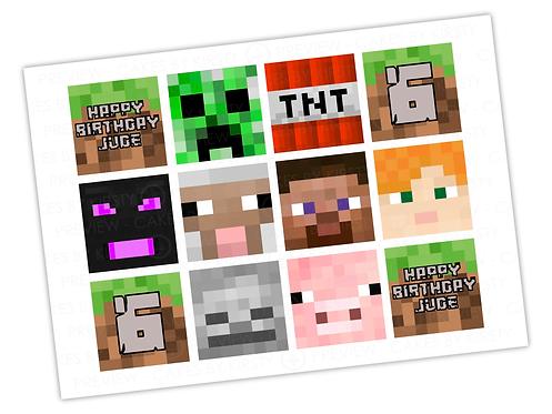"Minecraft - 12x 2.25"""