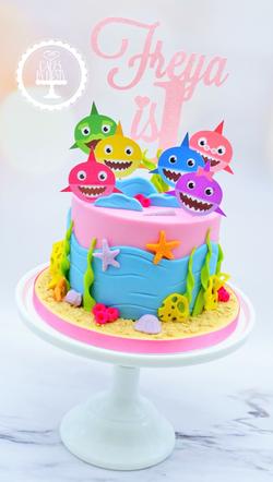 Baby Shark 1st Birthday Cake