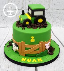 Tractor Farm 2nd Birthday Cake