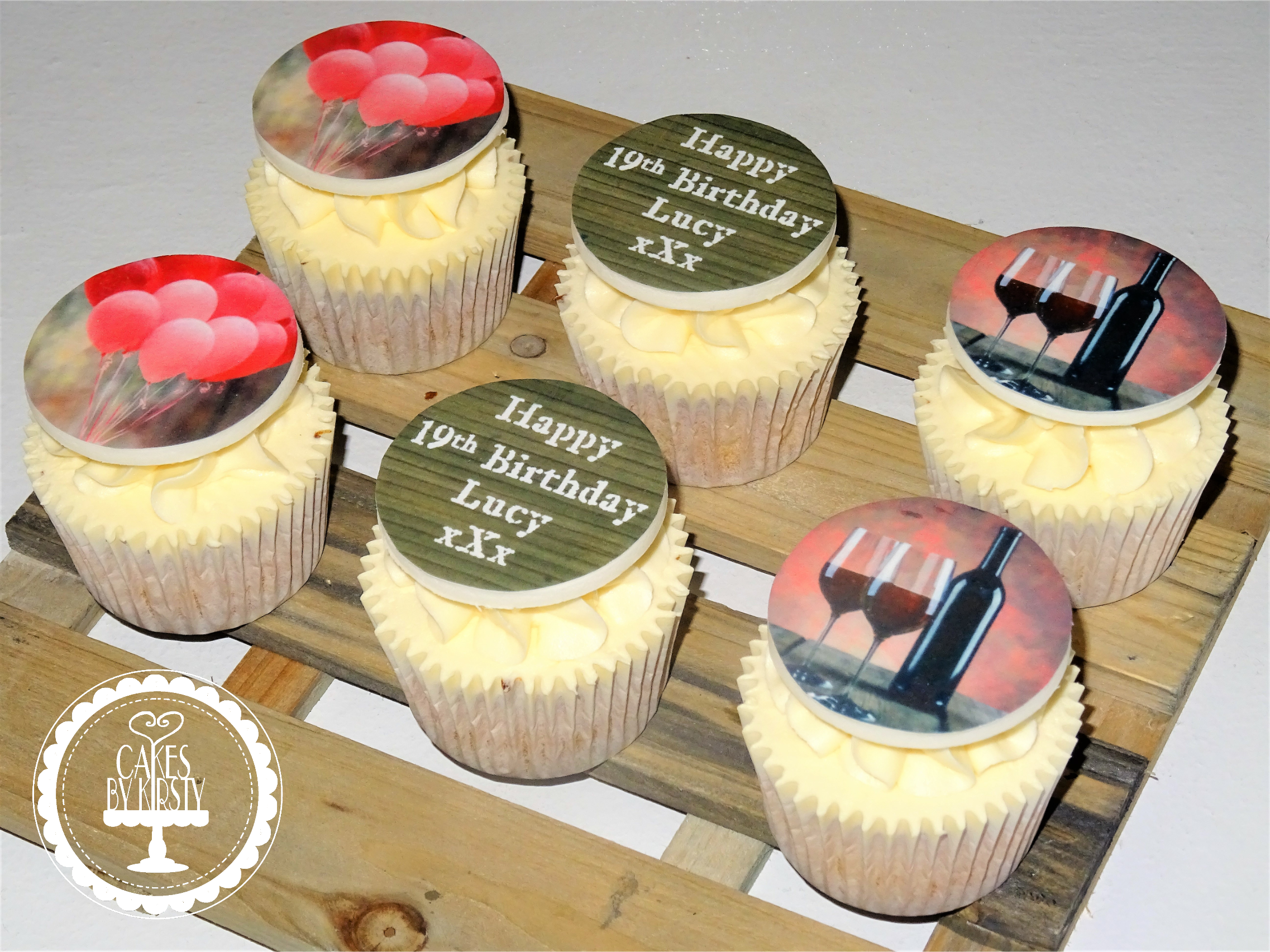 Wine Birthday Cupcakes