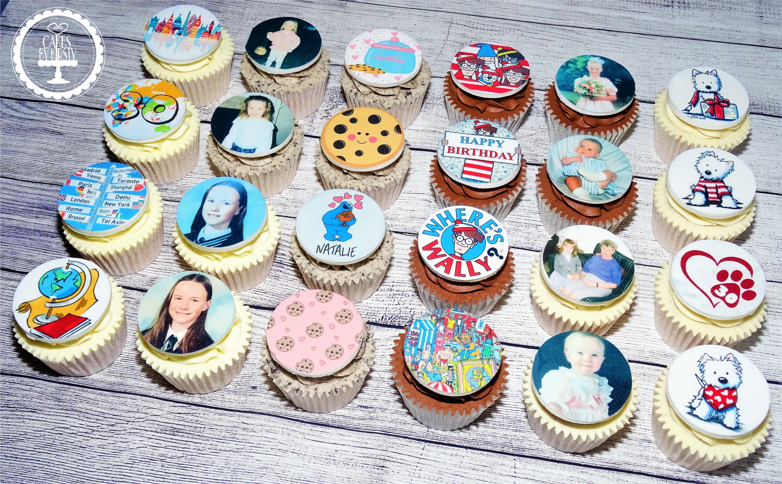 30th Birthday Cupcakes