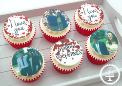 Valentines Cupcakes (Edible Images)