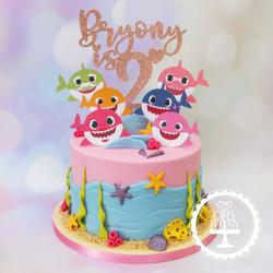 20191005 - Baby Shark 2nd Birthday Cake