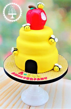 Apple & Beehive Cake