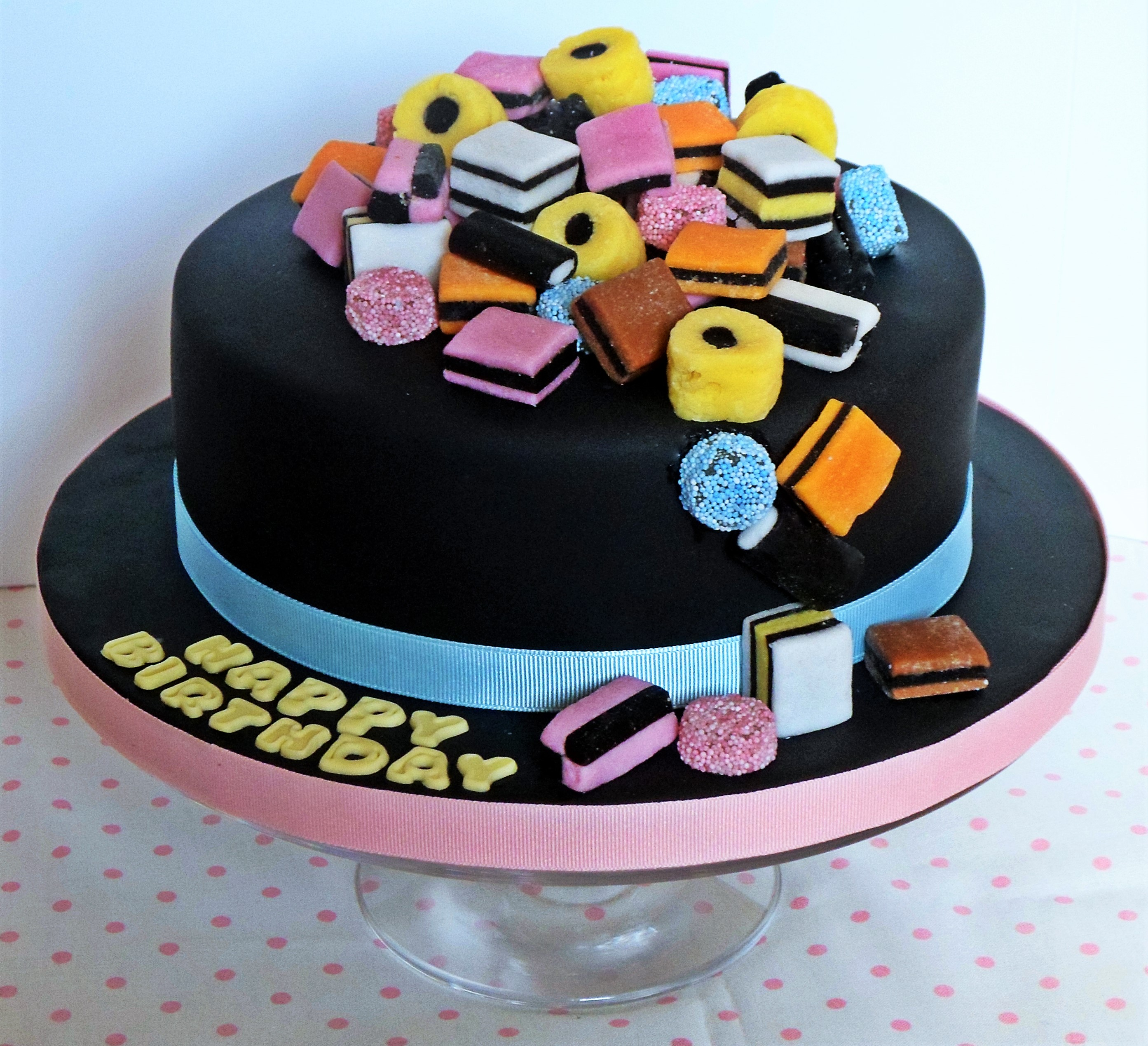 Licorice Allsorts Cake