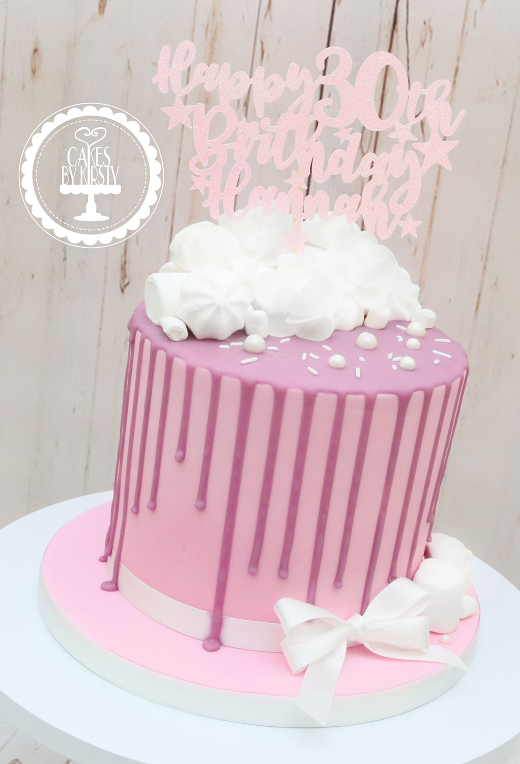 20191109 - Pink- Purple 30th Drip Cake