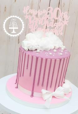 20191109 - Pink- Purple 30th Drip Cake