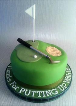 Golf Leaving Cake