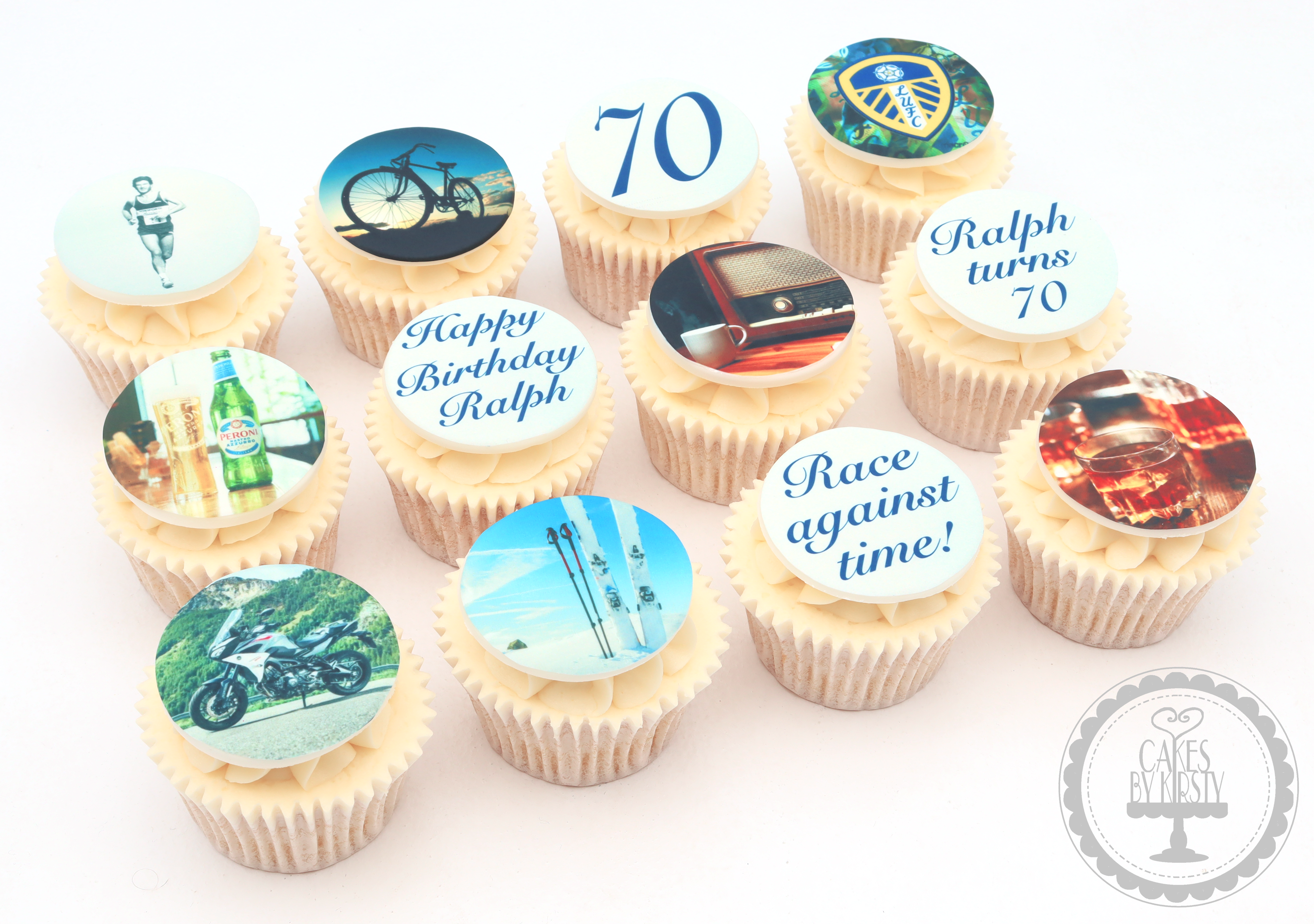20190728 - Hobby 70th Birthday Cupcakes