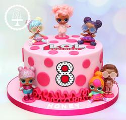 20191122 - LOL Doll 8th Birthday Cake