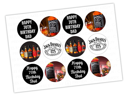 "Jack Daniels - 12x 2.25"""