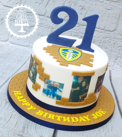 Leeds United Bricklayer Cake for 21st Bi