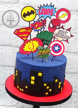 Superhero 4th Birthday Cake