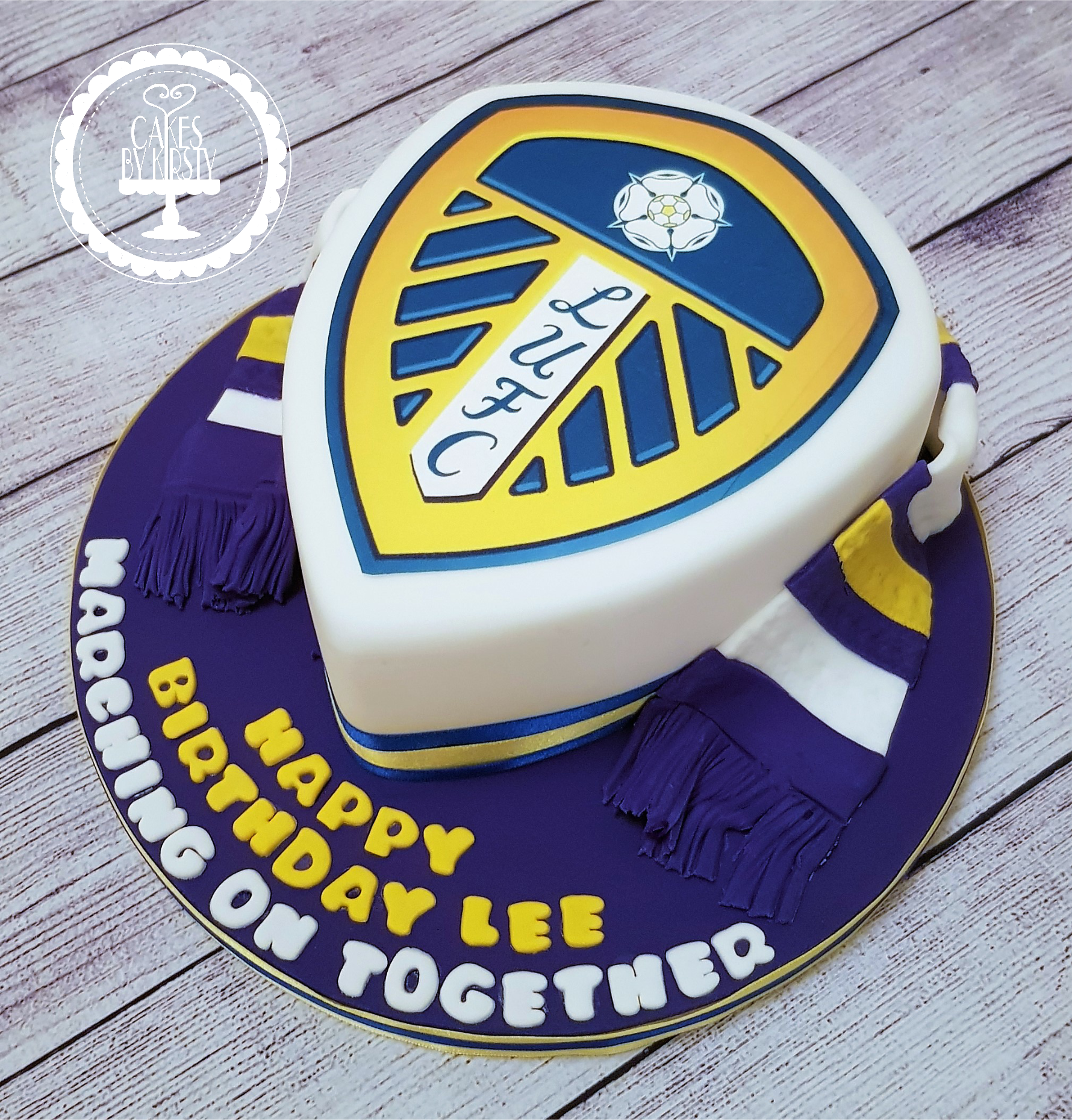 Leeds United Badge Cake