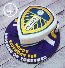 Leeds United Badge Cake