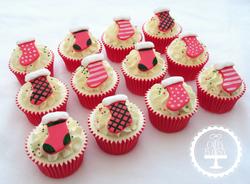 Christmas Stocking Cupcakes