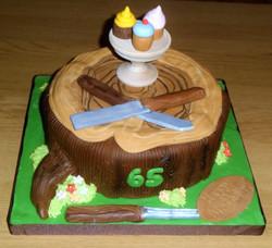 Wood Turning Cake