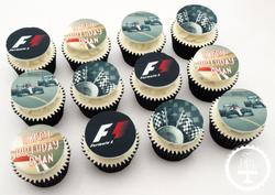 F1 Edible Image Cupcakes