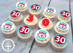 30th Liverpool FC Edible Image Cupcakes